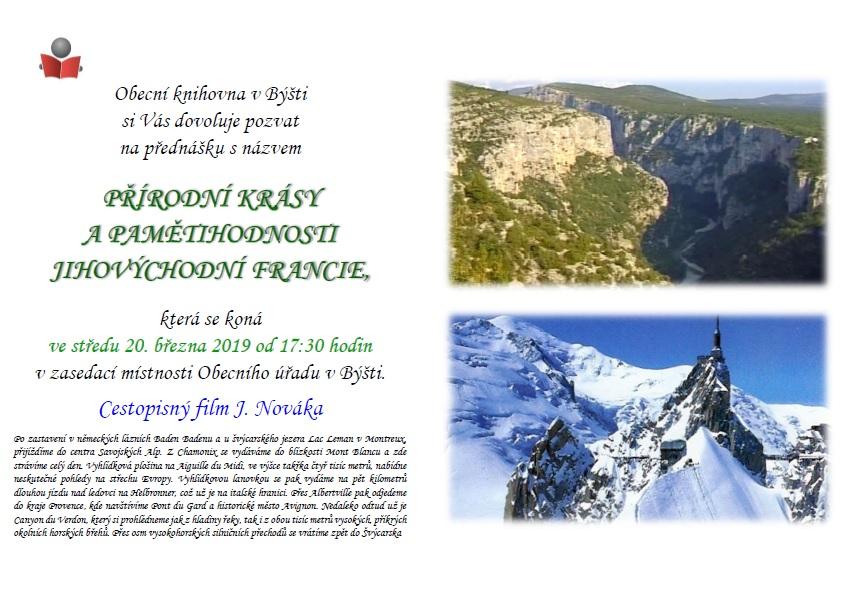 Cestopisný film a přednáška: přírodní krásy a pamětihodnosti jihovýchodní Francie 1
